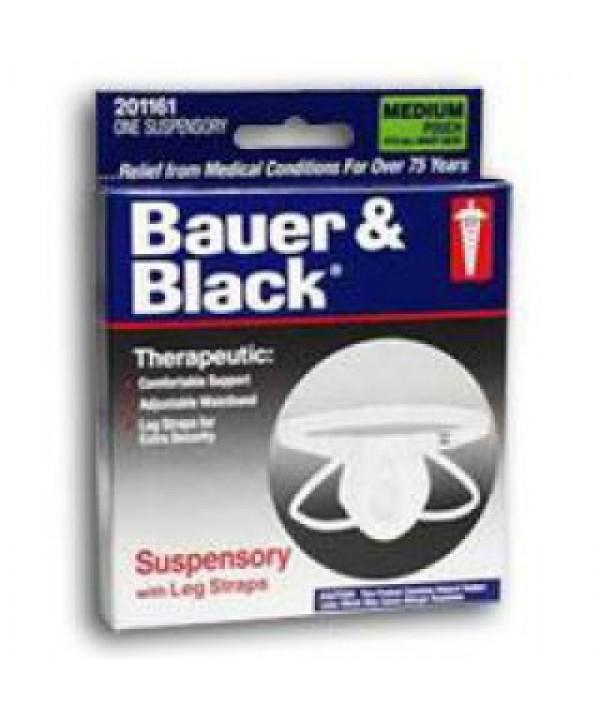 BD #201161, Support Suspensory Scrotal Bauer & Black Medium Cotton White Ea, 48 EA/CA