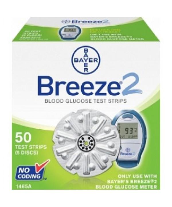 Bayer #1467, STRIPS, BREEZE 2 50CT, HEALTH PLAN, 50/BX