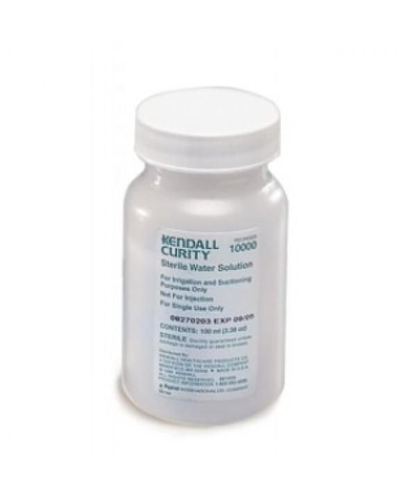 Kendall #10000, WATER, STERILE, 100 ML, BOTTLE, 6/PK, 48 EA/CS