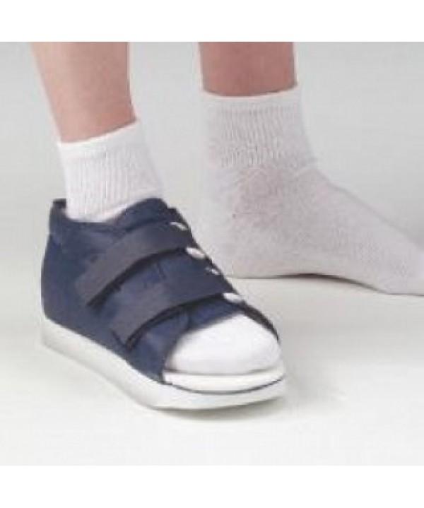 Deroyal #2044-02, Shoe Post-Op Padded Nvy Md Men 8.5-10 Universal Rubber Sole Ea